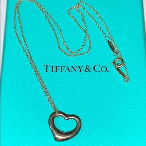 Tiffany & Co Sterling Silver Heart w/Necklace